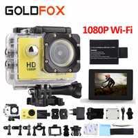 GOLDFOX SJ 4000 Cámara de Acción 30 m impermeable 2,0 'pantalla 12MP wifi deporte DV 1080 p Cámara del deporte extreme pro cámara Mini cámara