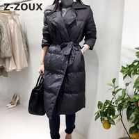 Z-ZOUX mujer Parka Vintage espesado invierno Parka abrigos de invierno de Mujeres de doble botonadura de delgada chaquetas de invierno 2018