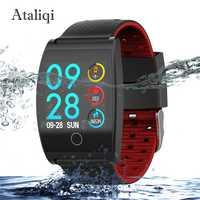 Ataliqi reloj inteligente IP67 impermeable rastreador de ejercicios Monitor del ritmo cardíaco de la presión de la sangre los hombres y las mujeres reloj Smartwatch para Android IOS