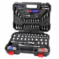 WORKPRO coche herramientas de reparación mecánico herramienta tomas herramientas para Auto destornilladores métrica SAE Llave de trinquete de llaves de herramientas de mano