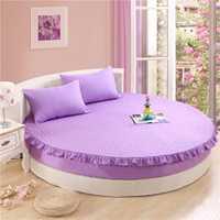 200*200 cm y 220*220 cm cama redonda colchón grueso cama estuche protector Sábanas con goma elástica cama Sábanas