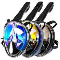 Snorkeling de cara completa máscaras vista panorámica Anti-niebla anti-fugas natación Snorkel buceo antideslizante buceo submarino máscara adultos niños