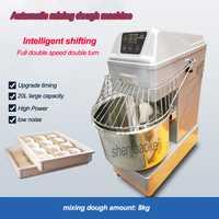 Mezcladora automática de masa de acero inoxidable, amasadora comercial, máquina de estirado de masa en espiral para alimentos de 20 L, 220 v/50 hz 1500w