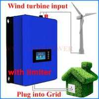 MPPT 2000 W energía eólica red tie inverter con regulador de carga/resistencia para 3 Fase 48 V 60 V generador de turbina de viento