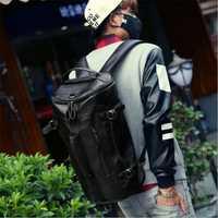 Bolsa de deporte mochila bolsa de gimnasio Fitness 3 funciones de hombro bolsos bandolera bolso de cuero suave de la PU impermeable de los hombres de bolsa de paquete de bolso