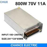 Alta potencia de conmutación de alimentación 800 W 70 V 11A Conmutación de alimentación AC a DC para LED Luz de tira (S-800-70)