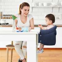 Silla de bebé plegable portátil niño bebé Asiento comedor Infantil niños Puff Asiento Silla de alimentación del bebé cinturón de seguridad