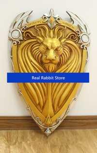 [Arriba] 1:1 escala 61 cm de simulación, el rey Llane León Escudo de Armas modelo para niños adultos cosplay Juguetes colección regalo