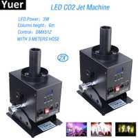 2 unids/lote etapa efecto equipos de DJ LED CO2 máquina de chorro de Bar etapa Dj Disco fiesta Co2 máquina de chorro de CO2 cañón envío gratis