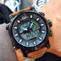 Reloj cronógrafo militar deportivo hombre reloj de pulsera cuarzo LED reloj Digital hombre 2019