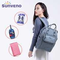 SUNVENO 2018 nuevo pañal mochila bolsa de gran capacidad impermeable bolsa Kits de momia maternidad mochila de viaje de bolso