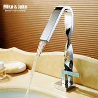 Giro cromo grifo de baño cuenca crane agua del grifo mezclador de lavabo torneira grifo de latón mezcladoras MJ9999
