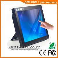 Carcasa metálica Monitor VGA o HDMI Industrial de 12 pulgadas, Monitor PC de escritorio
