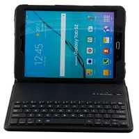 Teclado Bluetooth inalámbrico con Tablet caso para Samsung Galaxy Tab3 10,1 P5200 T530 T531 T535 ruso hebreo español de cuero de la PU