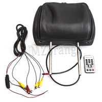 Mzorange 7 pulgadas General coche Monitor de reposacabezas Monitor de coche con botón y control remoto Beige/gris/negro AV USB SD MP5 FM