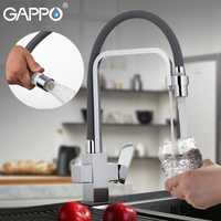GAPPO grifos de cocina grifo de cocina con agua filtrada de grifos de cocina mezclador fregadero grifo de agua montado cubierta grifo