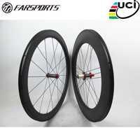 Farsports FSC5088-CM-23 Powerway R36 Centro Mixto carbono bicicleta con ruedas de carbono hub 3G de frente 50 23 trasero 88 23 ruedas de bicicleta