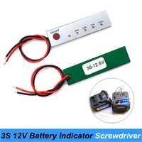 20 piezas 12 V probador de capacidad de la batería de litio energía eléctrica del Panel indicador Junta baterías para uso destornillador Turmera JY