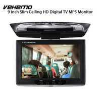 Vehemo 9 pulgadas coche visualizador coche DVD Monitor abatible montaje en techo Monitor de coche Universal portátil automotriz