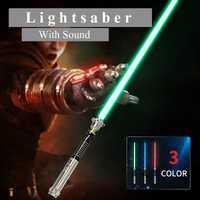 Nuevo sable de luz Cosplay de 110 cm de longitud con luz de sonido Led rojo verde azul sable láser nueva actualización de regalo de juguete