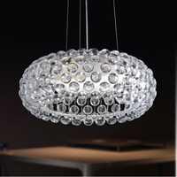 Moderno suspensión Foscarini lámpara colgante Caboche sudor Ion italiano Iluminación acrílico colgante luces moderno rústico lámparas