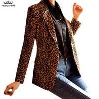 Tnlnzhyn 2019 nueva primavera otoño Plus tamaño mujeres chaquetas y americanas chaquetas de traje Casual de manga larga chaquetas Slim Blazer chaquetas Y1029