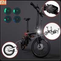 Original Xiaomi QiCYCLE-EF1 inteligente bicicleta eléctrica plegable bicicleta soporte Bluetooth 4,0 bicicleta para APP envío gratis sin impuestos