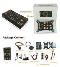 Piloto automático pixhawk 2.4.8 px4 controlador de vuelo de 32 bits con interruptor de seguridad/Zumbador/SD/divisor módulo de expansión
