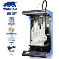 2018 Newsest wanhao D5S totalmente montado 3D impresora 3D de impresión más grande de la zona de impresión 3D Kit de impresora con ABS/PLA materiales