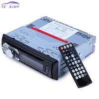 Radio en el tablero de 1 Din coche Radio Fm estéreo Mp3 reproductor de Audio Fm Usb Sd Dvd Cd de música Player con Control remoto Autoradio