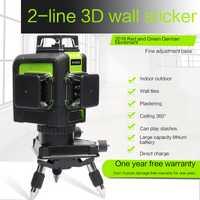 Nuevos LND nivel láser verde 12 línea 360 grados línea nivel láser 12 línea IP54