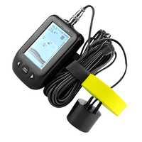 ABLD-Erchang Xf02 buscador de peces portátil 9M cable de eco sirena alarma 0,6-100 M transductor de profundidad Sensor Sonar para pesca