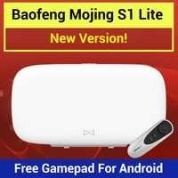Baofeng Mojing S1 Lite 3D VR gafas de realidad Virtual de gafas VR caja 110 campo de visión (FOV) Lente Fresnel de juego de Bluetooth Joystick para smartphone