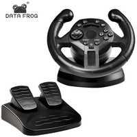 Volant de course DATA FROG pour volant de jeu PS3 Joysticks de Vibration PC roues de commande à distance pour PC