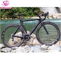 Marco de bicicleta de carretera con marco de carbono aerodinámico y fuerza de piedra rodante 51,5 cm