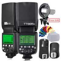 Pixel M8 2,4g inalámbrico Flash + S-tipo de soporte o Godox TT685C Flash TTL HSS Cámara Flash speedlite + X1T-C disparador para Canon