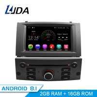 LJDA 1 Din Android 8,1 Car Radio para Peugeot 407, 2004-2010 reproductor Multimedia estéreo Auto GPS de Audio navegación DVD Video IPS