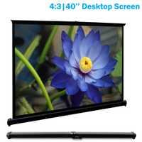 CAIWEI Mini portátil 40 pulgadas de pantalla de proyector HD blanco mate pantalla de proyección para LED/LCD/DLP proyectores