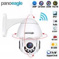 Panoeagle WIFI cámara Exterior PTZ IP Cámara 1080 p velocidad Domo CCTV cámaras de seguridad IP WIFI Exterior IR Surveilance cámara