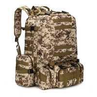 YOUGLE 50L táctico Molle al aire libre asalto militar mochila Camping mochilas bolsa nueva