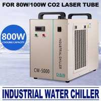 AC 110 V 60Hz CW-5000DG enfriador de agua industrial para 80/100 W CO2 tubo láser enfriador