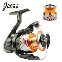 Bobine de filature JITAI avec bobine de rechange en métal libre lisse 5.2: 1 rapport de vitesse 9 + 1BB gauche droite bobine de pêche 10BB bobines de pêche