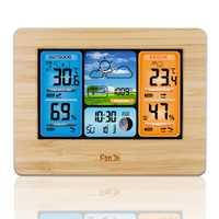 FanJu FJ3373W Digital tiempo estación alarma de reloj con humedad temperatura inalámbrica al aire libre de pronóstico del tiempo Func