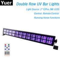 24 LEDs Disco UV Bar luces fiesta Dj lámpara UV Color llevó luces de la arandela de la pared para Navidad láser proyector luces de arandela de la pared