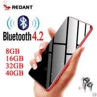 Deporte MP3 player bluetooth con altavoz walkman medios reproductor de música mp3 flac de radio fm portátil de alta fidelidad mp 3 8g 16g 32g 40g tf