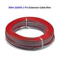 3 Pin 500 m 22AWG 20AWG 18AWG Cable de extensión de tira de cobre estañado eléctrico para tira de LED WS2811 WS2812 tira de LED controlador de luz