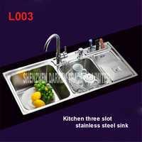 91*43*21 cm topmount/triple undermount Acero inoxidable Fregaderos de cocina fregadero de la cocina pull out fregadero cocina grifo l003