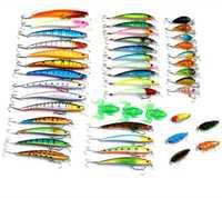 Conjunto de 45 Assorted señuelos cebo para peces nuevos hombre Minnow suave Rana cigarra gusano cebos Swimbait Crankbait Topwater flotante se hunde