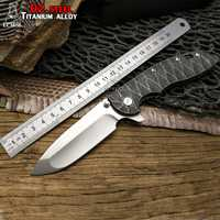 LCM66 XM-18 táctico cuchillo plegable de D2 hoja de aleación de titanio con cuchillo plegable al aire libre camping caza cuchillos herramienta
