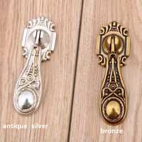 Europa vintage angustia plata cajón tiradores bronce gota manijas perillas retro Shaky colgante muebles perillas